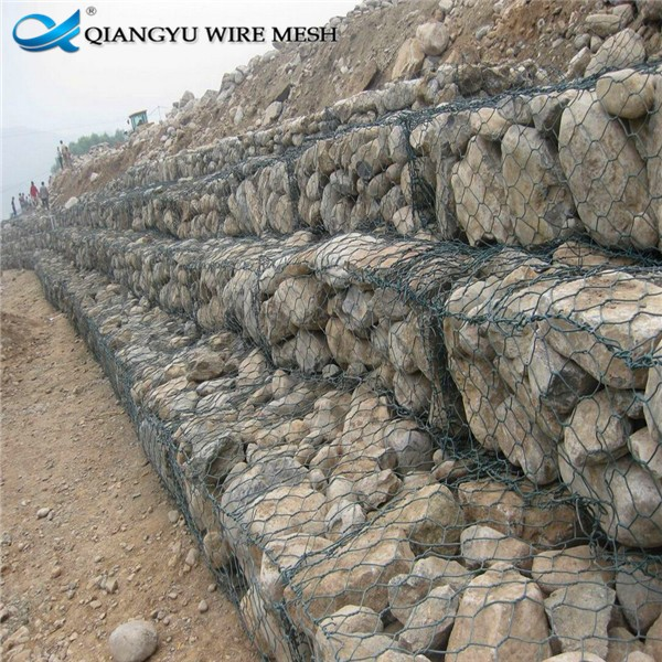 Rectangle welded gabion barrier wire mesh for stone with