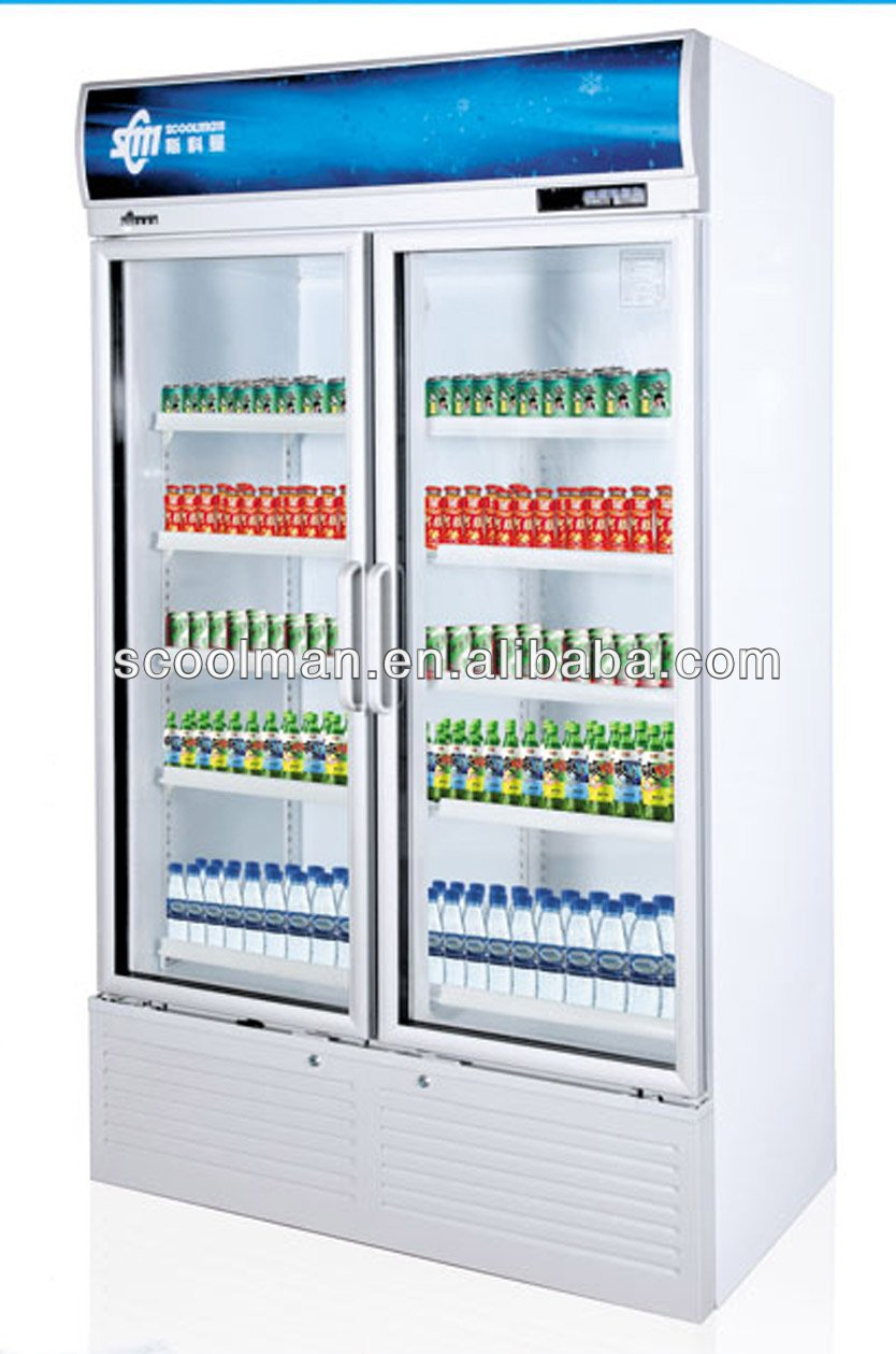 Double Door Visi Coolerglass Door Display Cooler Buy High