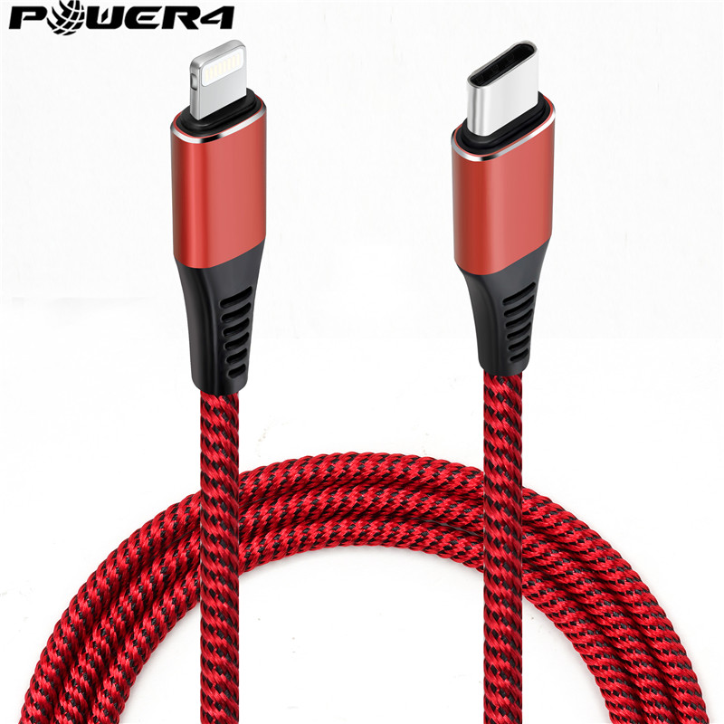 Original Braided MFi for Lightning to Type C Mobile Cell Phone Charger Fast Charging USB Tipo C Extension Data Cable for iPhone
