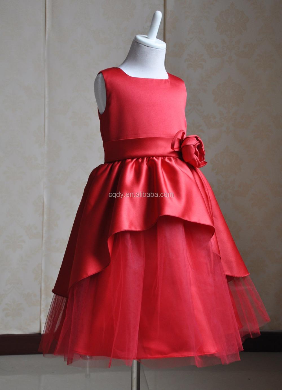 Vestidos Elegantes Rojos Para Niñas Brain Hive