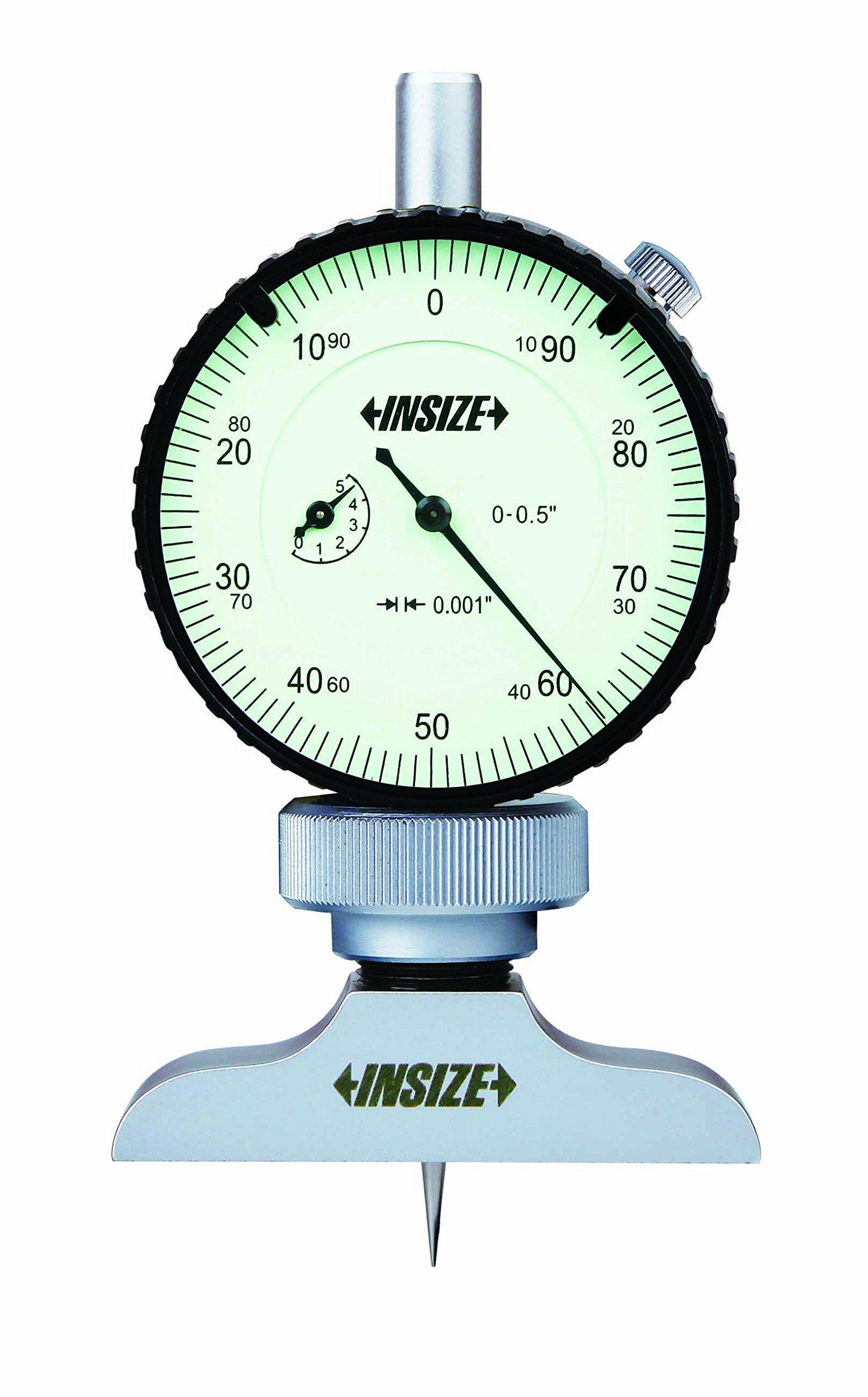 INSIZE 2341-2E2 Dial Depth Gage 0.001 Dial Indicator Graduation 0-12