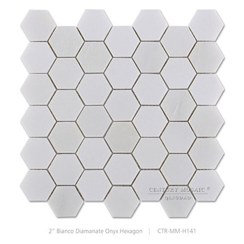 2 inches white marble hexagon mosaic kitchen floor tiles patterns