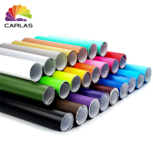 CARLAS Car Stickers Matte Electro Metallic Steel Grey Auto Wrap Vinyl