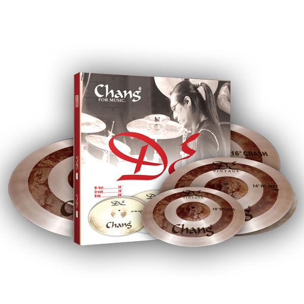 Chang Cymbals DE Vintage Cymbals Pack Drum Cymbals Simbal
