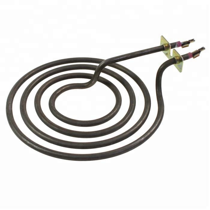 Electric oven coil heating element, flexible cooking pot heating element