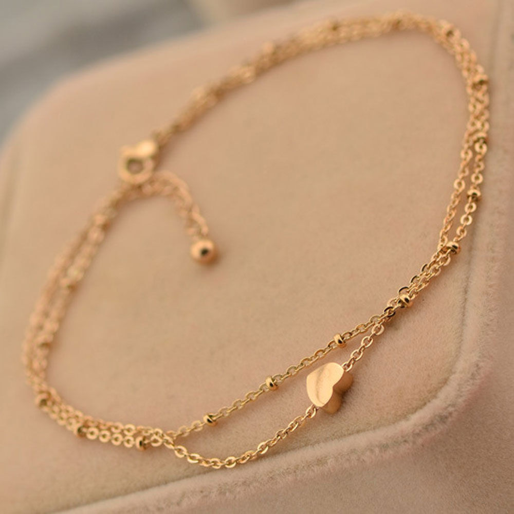 Pics For > Gold Anklet Chain