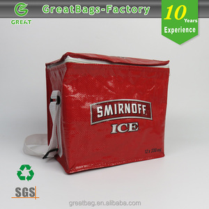 Reusable portable insulated ice cream carry cooler bag for men