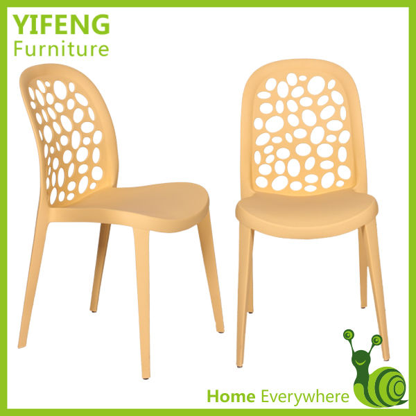 simple design net back brown plastic chair(factory manufacturer)