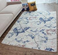 Polyester fiber Retro Brief The grey building The Union Jack Loop Pile Floor Door Carpet