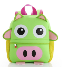 Little Kids Shape Pig Neoprene Backpack Best Gift Preschool Backpack Pattern