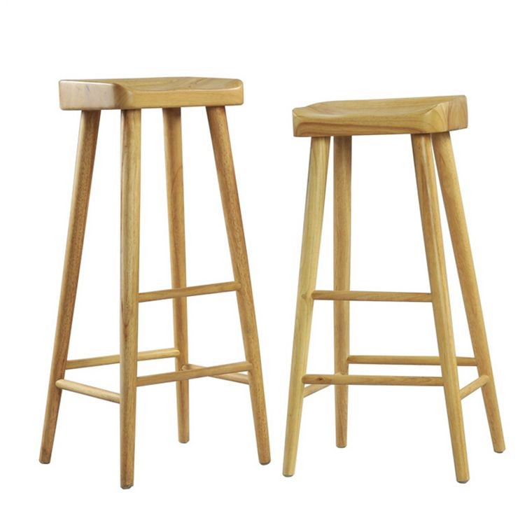Hotsale modern birch wood barstool,with buttock seater modern wood barstool