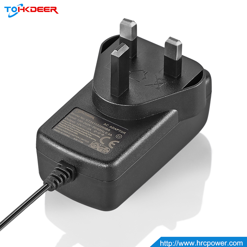 CCC approval input 100-240v output power adapter dc 12v wall mount power supply adapter