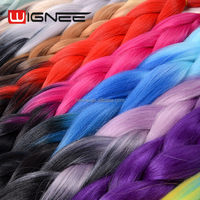 Ombre Color Jumbo Braid Synthetic hair extensions Wholesale Cheap Price Wignee Quality Insurance