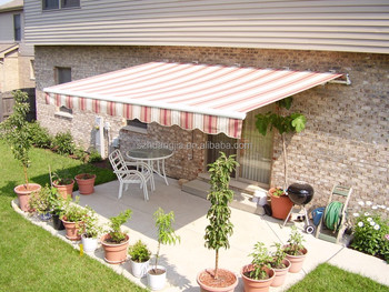 Aluminium Collapsible Arm Polycarbonate Acrylic Sheet Pergola Awning Shades