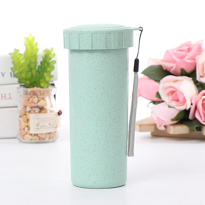 Hot Sale Custom Design 430ML Seal Leak Proof Multicolor Biodegradable Wheat Straw Cup