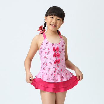 7026ff9b74b Kids Dresses Swimsuits Girls Swimwear Child Cute One Piece Swimsuit ...