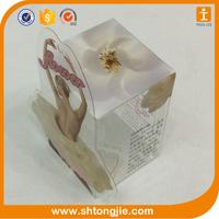 PET uv offset printing multicolor transparent gift display design craft plastic box