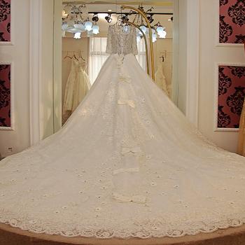 Ls21513 Long Sleeve Sashes Front Lace Wedding Kitenge Dress Designs ...