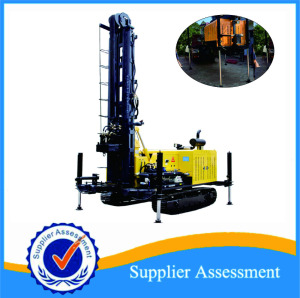 KW30 hot selling water well drilling rig 300m hydraulic trailer portable borehole water well drilling rig