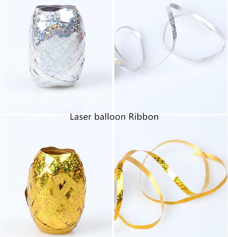 10M*5mm Latex Foil Balloons Ribbon Wedding Gift Party Birthday Decoration Curling Ribbon Roll Air Balloon Wrapping Tape Rope