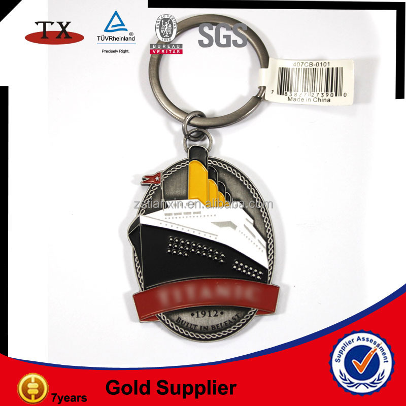 cute ship new york souvenir shop keychain
