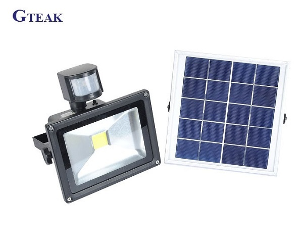 50w outdoor waterproof led solar <strong>flood</strong> light with motion sensor