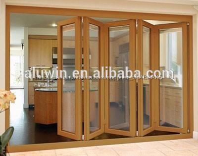 Interior de aluminio de cristal puertas plegadizas imagen for Puertas aluminio interior cristal