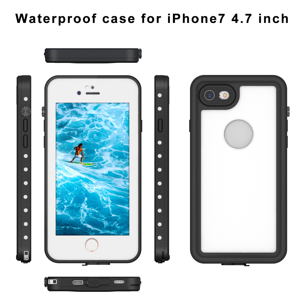 Custom IP68 Unbreakable Silicone Plastic Universal Cell Phone Shockproof Waterproof Phone Case For iPhone Samsung Mobile Galaxy