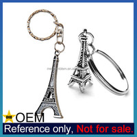 Customized 3D Paris Souvenir Eiffel Tower Keychain