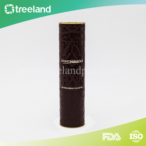 Aluminum Foil Paper Liner Cardboard Tube Packaging for Oliver Oil
