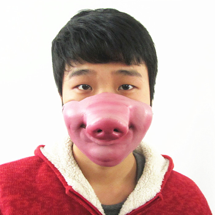 Free shipping 2014 new halloween funny mask costume ball supplies pig nose half face masks MJ051