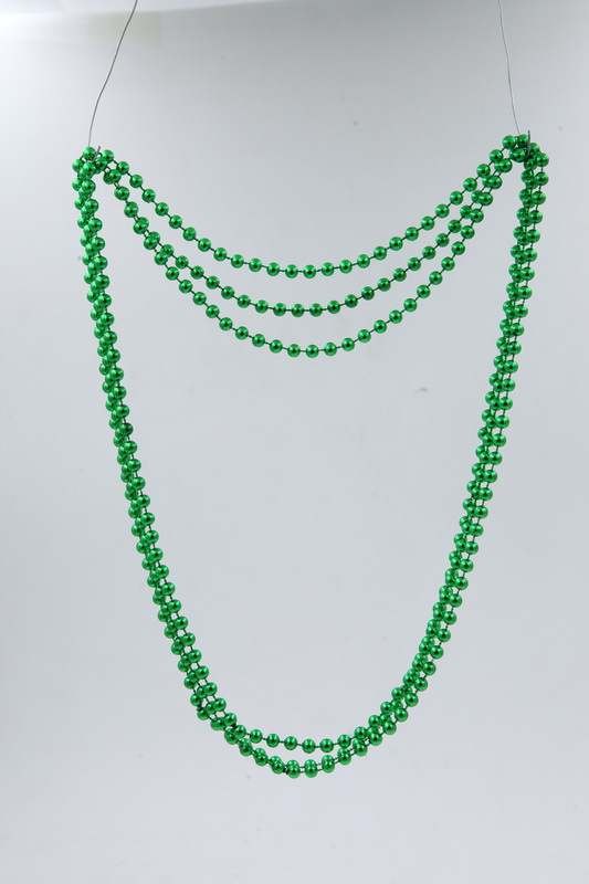 St. Patrick's Day 100th party Bead chain wire wrapped necklace