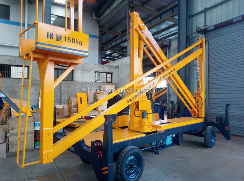 Self-propelled electric hydraulic articulated arm lift