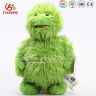 Customized animation movie stuffed furry green monster plush toy