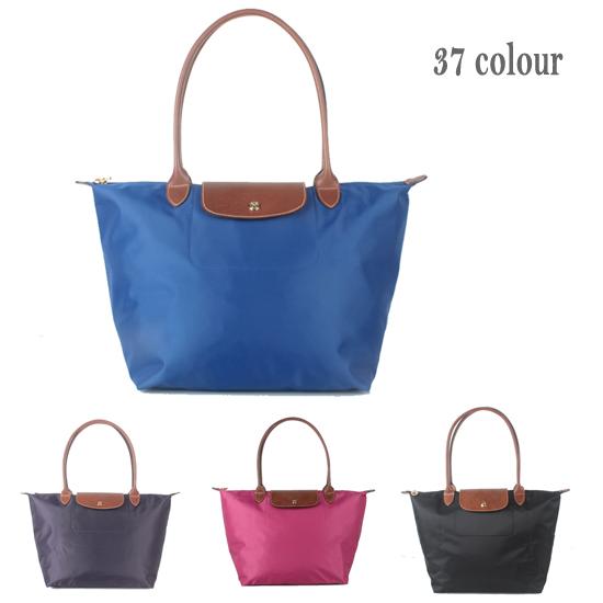 French Women Long Dumpling Bags Waterproof Nylon Tote Bag Pu Handle Ping Shoulder Handbags Folding School