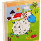 FQ brand Custom Educational Kids Wooden Jungle Animal Jigsaw Puzzle Book