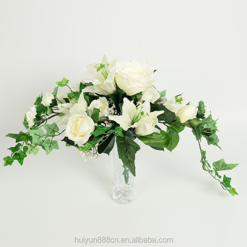 Wholesale mini artificial morning glory flower bouquet for wedding decoration