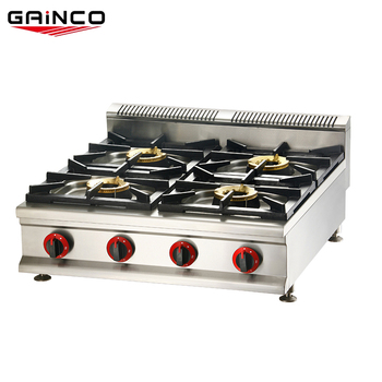 Competitive price stainless steel black cast iron gas 5kw 4 burners cooker stove
