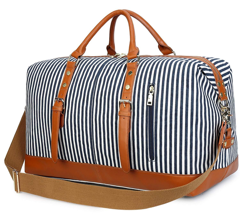 Zhuhaitf Waterproof Travel Handbag Large Capacity Canvas Carry-on Luggage Bag