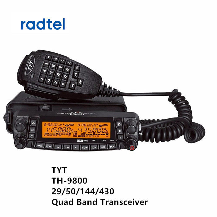 Mais novo 1806A TH-9800 Presunto TYT Quad Band VHF UHF rádio Transceptor Móvel