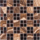 BLA001 Parquet feature wood pattern veneer gold foil glitter crystal glass mosaic tile