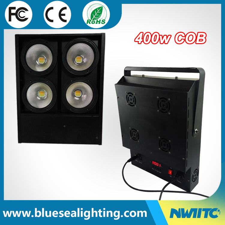 Warm/Cool white 4x100w cob led par with lens