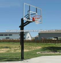Inground adjustable basketball goal