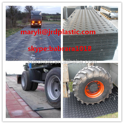 temporary hdpe plastic road mat/ground protection mat