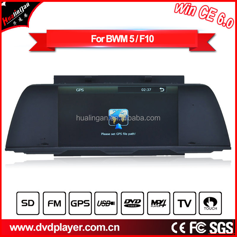 HLA car player for Auto audio BMW 5 F10 (2011-2012) dvd Navigation AU video BT music Reversing tracks Steering wheel control