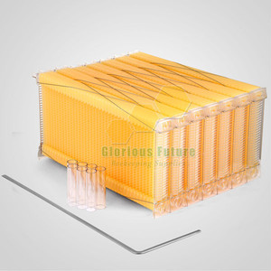 Plastic Self honey flow hive frame for 7 frames langstroth automatic beehive
