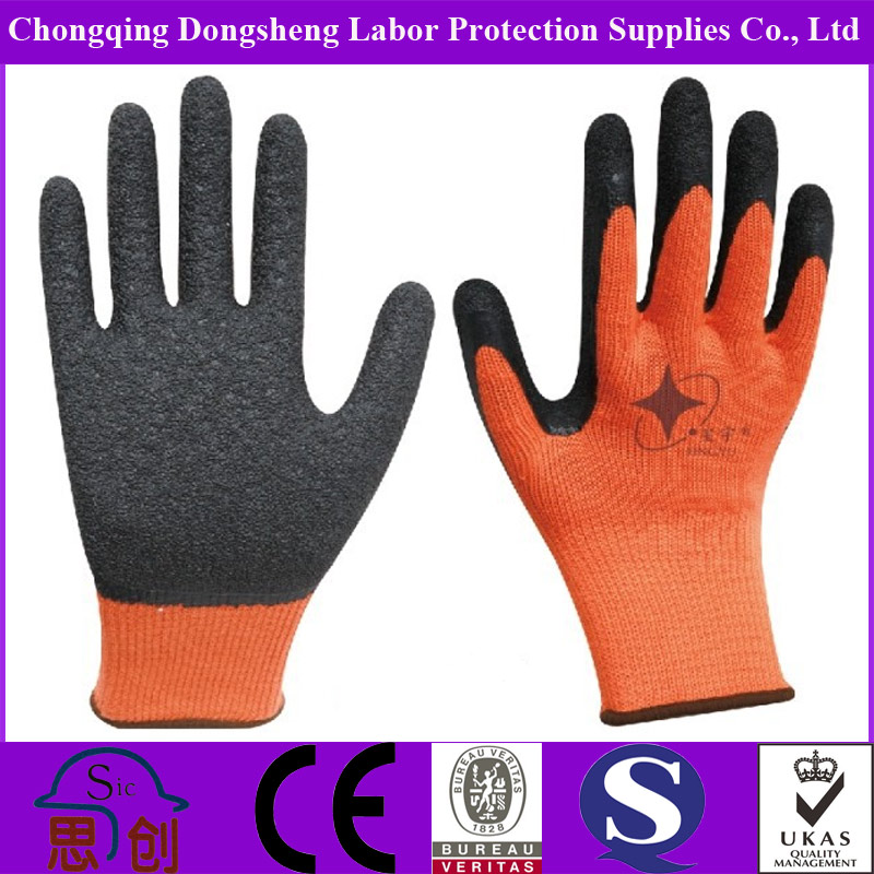 Safety Orange Knitting Wool Work Gloves