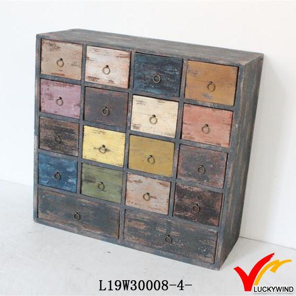 Gekleurde Kleine Houten Laden Woonkamer Decoratieve Kasten