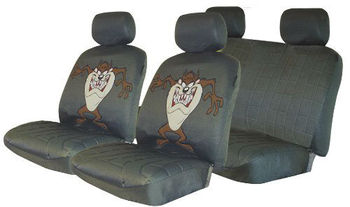 Looney Tunes Complete Seat Cover Set - Taz - Buy Complete Seat Cover