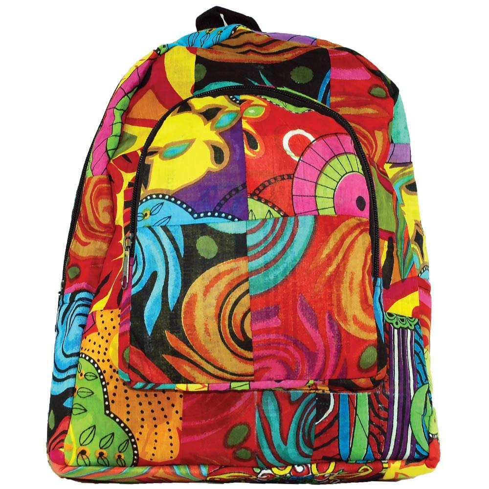 7fab0565cb Get Quotations · Hippie Patchwork Boho Backpack